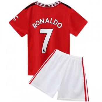 Juventus Tröja Barn 2018-19 Cristiano Ronaldo 7 Hemma Matchtröja Kortärmad