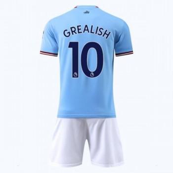 Manchester City Tröja Barn 2018-19 Kun Aguero 10 Hemma Matchtröja Kortärmad