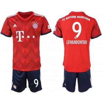Bayern München Tröja Barn 2018-19 Robert Lewandowski 9 Hemma Matchtröja Kortärmad